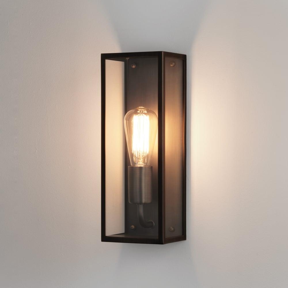 buiten wandlamp in glas